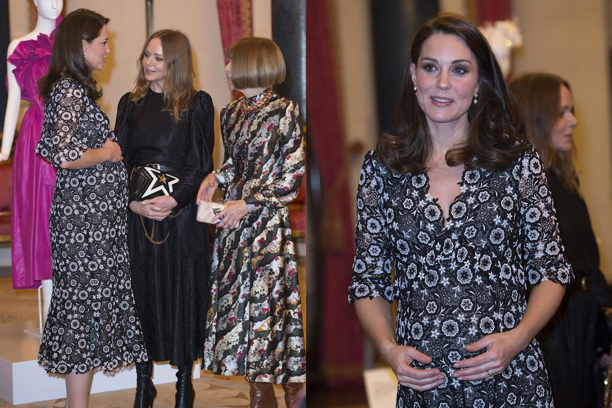 當英國兩大時尚代表碰面  凱特王妃的這身孕婦造型  應該連 Anna Wintour 也讚好吧