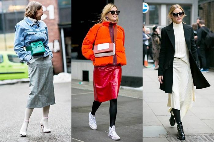 原來今個冬天要穿裙子,保暖既能趕上潮流的穿法是配這個單品!