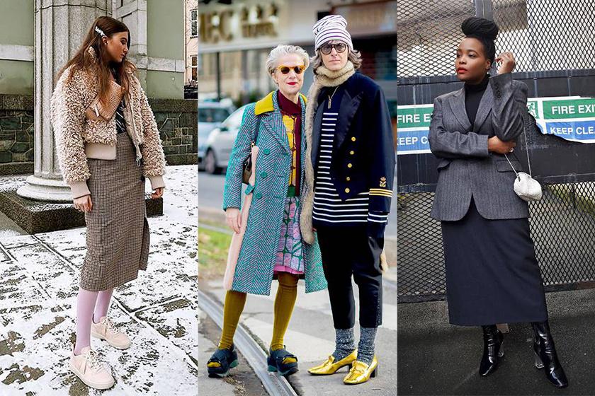 今個冬天要穿裙子 保暖既能趕上潮流的穿法是配過膝襪