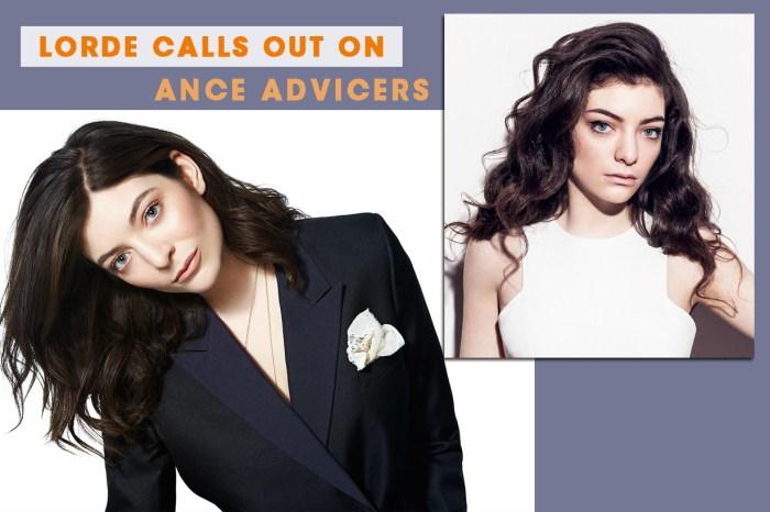 致一眾同樣有暗瘡問題的女生們:你們的痛,Lorde 都感受到了!