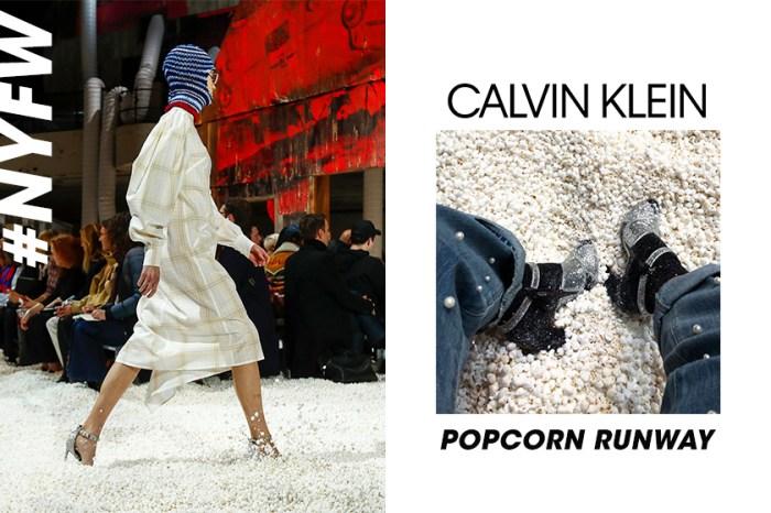 #NYFW:Calvin Klein 用五萬加侖爆谷鋪滿天橋,成功突圍卻惹來爭議!