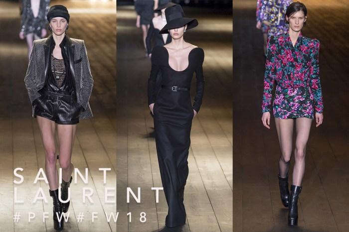 #PFW : Saint Laurent 2018 秋冬系列,一字曰之:短!
