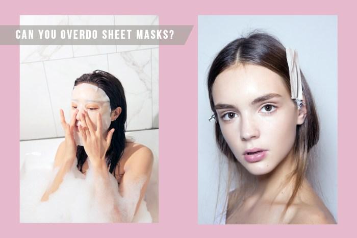 面膜對皮膚好,所以該一塊接一塊地敷?這可能會對皮膚帶來反效果!