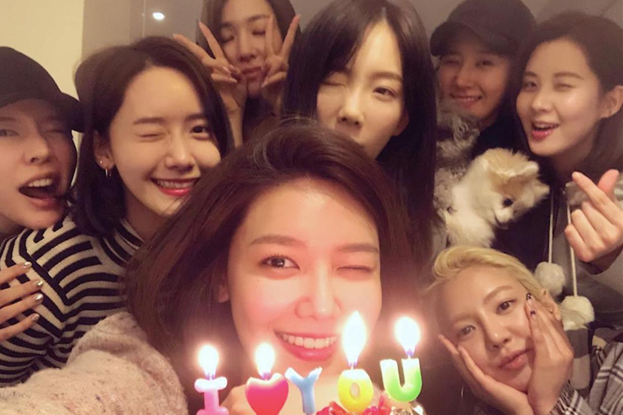 感情依舊好 少女時代私底下驚喜合體慶祝秀英生日