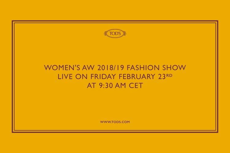 #MFW:邀請你一起參與時裝週!米蘭連線直擊 Tod's AW 18/19 系列!
