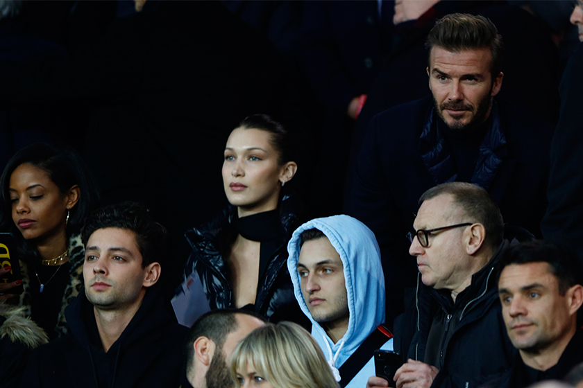 bella-hadid-david-beckham-paris-football