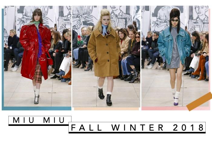 #PFW : Miu Miu 2018 秋冬回歸那些年,從頭到腳都是令人嚮往的「飛女正傳」