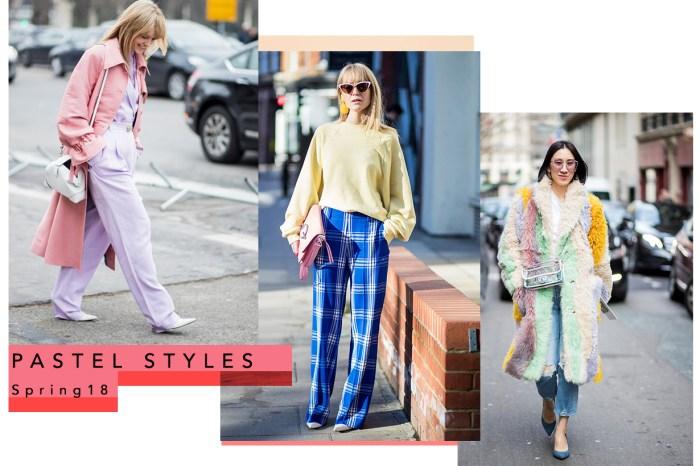 時裝週街拍達人爭先示範!春天就要是穿著棉花糖色系