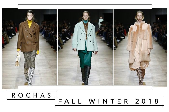 #PFW : Rochas 2018 秋冬系列以多種色調及布料混搭,教你穿出無人能及的優雅氣質