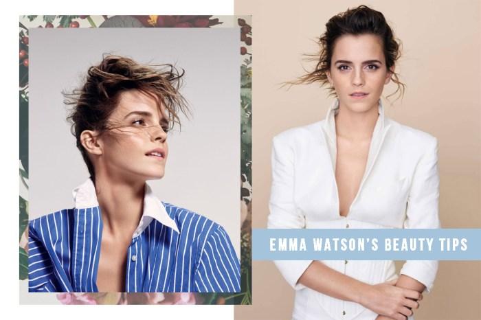 暗瘡肌、眉上瀏海、助曬油:Emma Watson 大談她的所有美容關鍵字!
