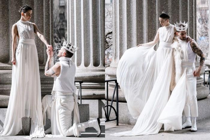婚紗並非新娘子的專利!看看這對情侶的「無性別婚紗」,會是時尚又有意思的選擇呢!