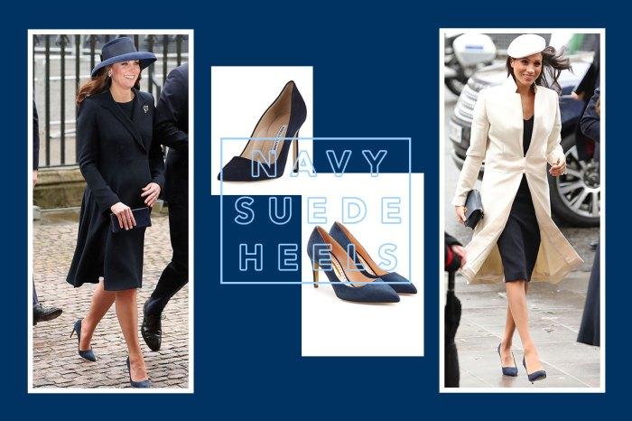 是巧合嗎?凱特皇妃、Meghan Markle 穿上 Matching Looks,連鞋款都一樣!