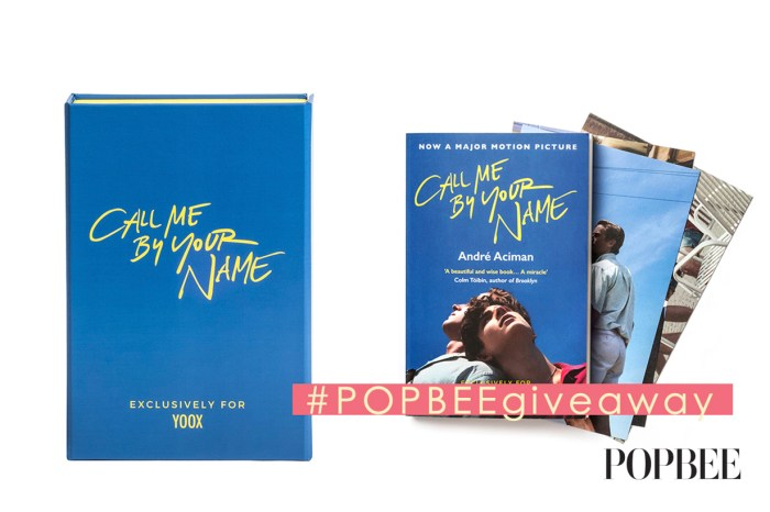 #POPBEE giveaway : 送你 YOOX 推出獨家《Call Me By Your Name》英文版小說套裝