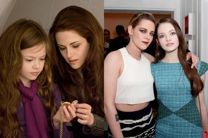 當年《Twilight》的 Bella & Renesmee 再度相見,這一幕太值得留念了!
