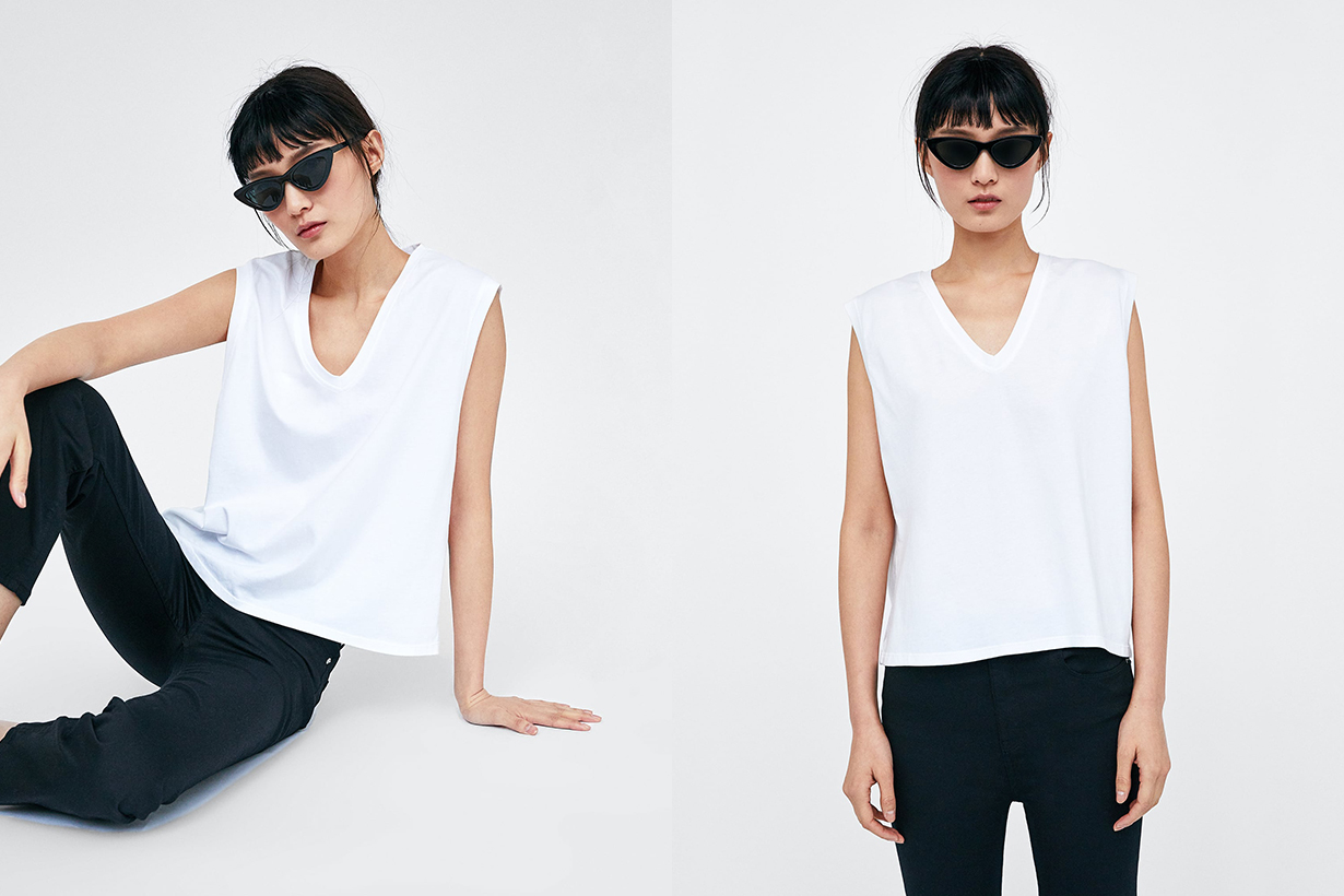 Zara 最新白 Tee 系列 2018
