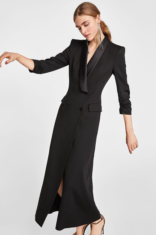 Zara 為奧斯卡2018 後台工作人員設計出三款大氣的晚裝