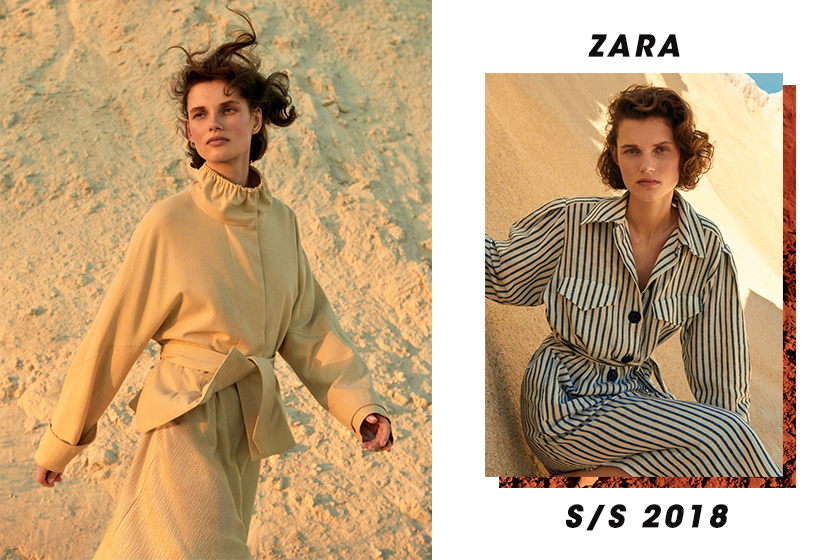 Zara 2018 春夏 Calm & Earthy 造型目錄