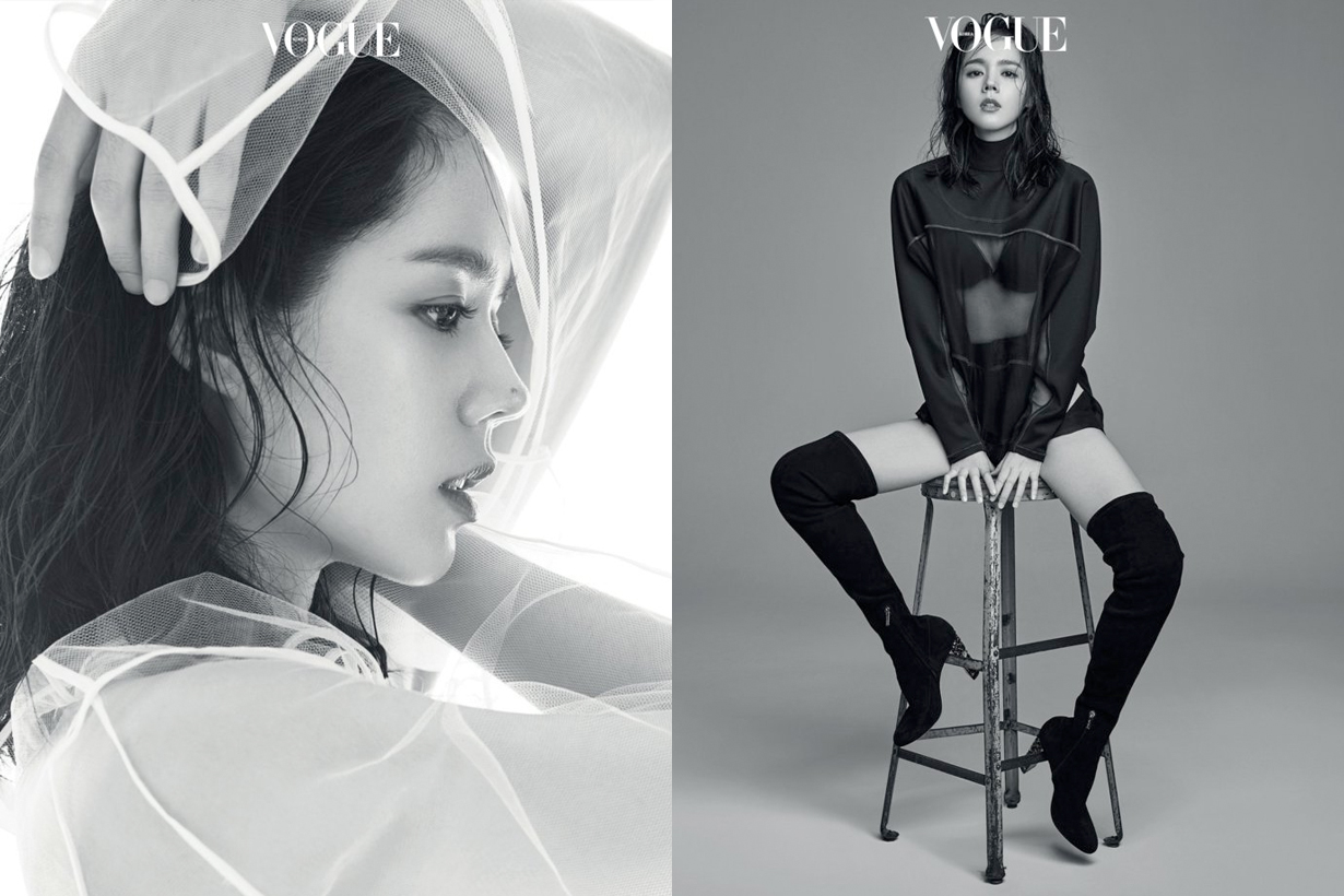 han gain female actor vogue korea fashion photoshooting
