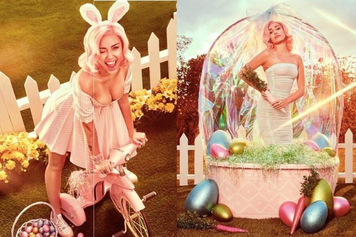 Miley Cyrus 復活節扮成性感兔女郎,其中一張照片有亮點…揭示了最新聯名鞋!
