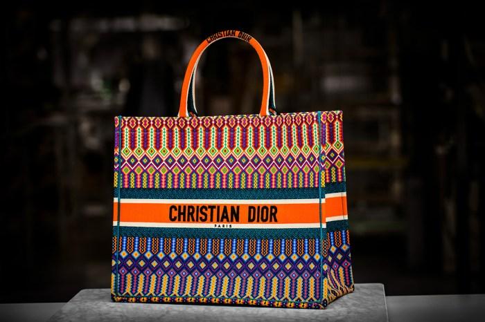 時尚感 + 容量極大=Dior 2018 春夏的民族風刺繡 Book Tote Bag!