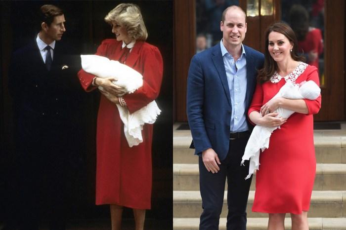 凱特王妃產後身穿的紅色長裙﹐原來跟已故戴妃有關!