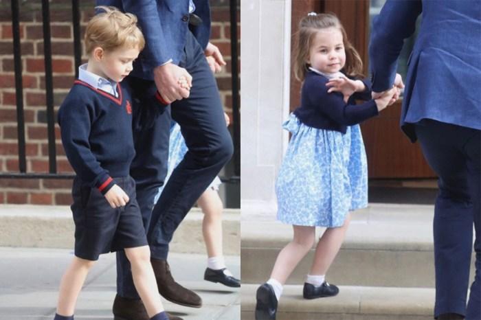 趕見弟弟原來還有這一幕!有網民拍到喬治小王子在鏡頭外輕彈夏洛特小公主後腦?