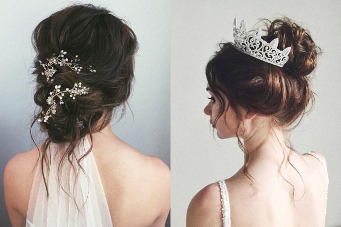 Messy Bun 也可以配婚紗!有了這些髮型靈感,小資新娘又可以省一筆了!