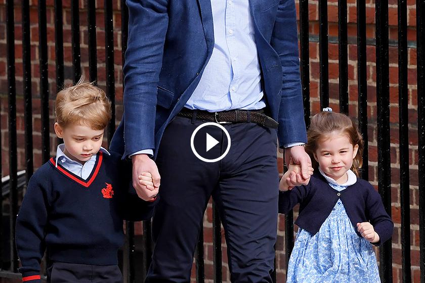 Kate Middleton give birth to third royal baby princess-charlotte prince george royal wave