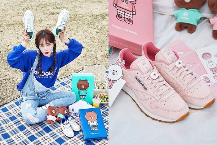 這可愛得太過份了!韓國 Line Friends 與 Reebok 推出 4 款聯乘球鞋
