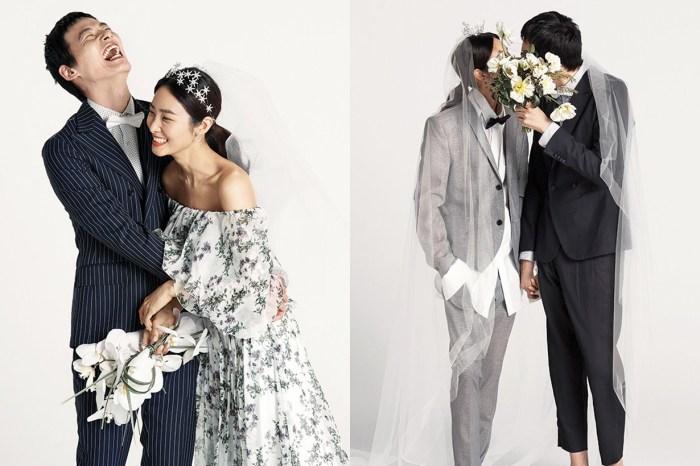 讓韓國這對潮模情侶示範,如何沒有背景道具都能拍出最時尚又親切的婚紗照!