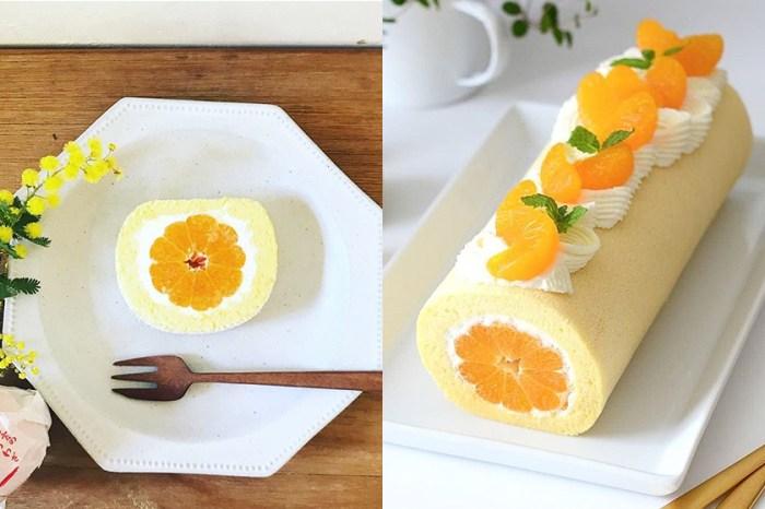#週末廚房:健康又好吃的小甜點-日本女生教你製作蜜柑瑞士卷