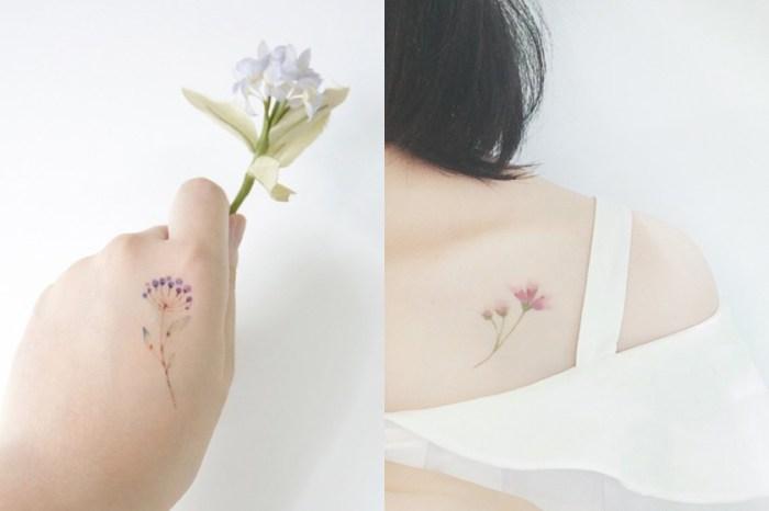 這些唯美的紋身貼紙,讓你淺嚐一下紋身的樂趣!