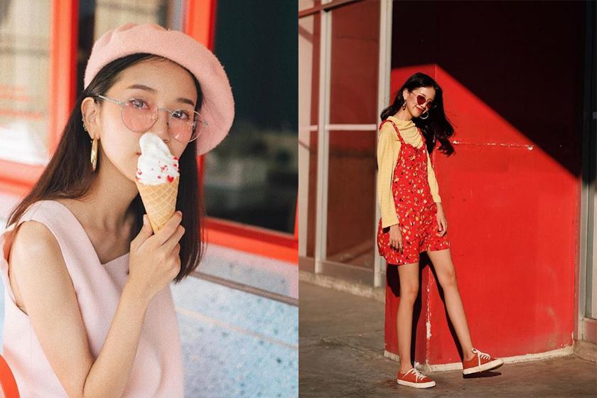 thai instagram colorful girl vanmalllinee