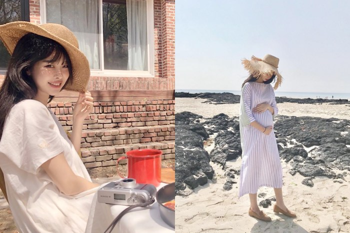 這個韓國女生清新舒服的穿搭令人驚艷,更沒想到已是位懷胎的準媽媽!