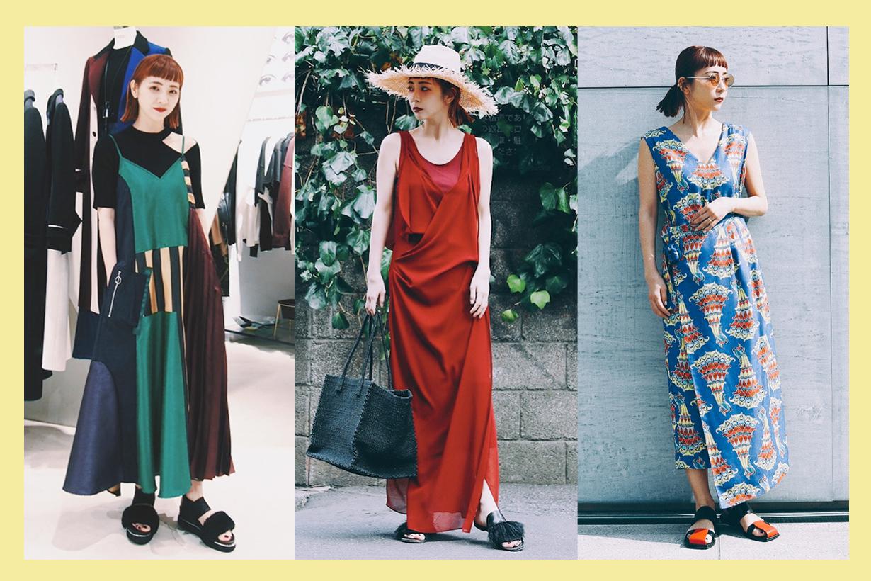 momokoogihara summer styling long dresses must have item