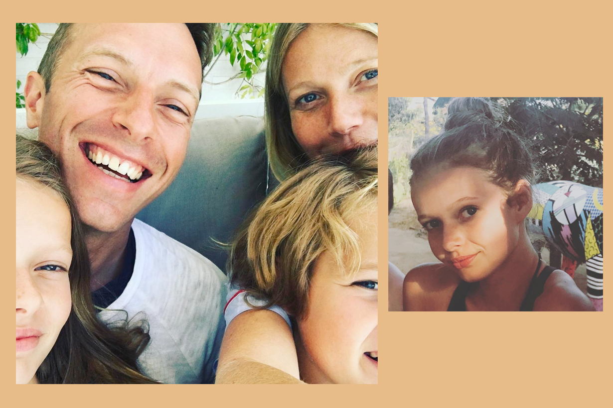 Gwyneth Paltrow Chris Apple Martin share instagram young beauty