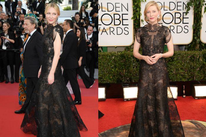 因為一個重要的理由,Cate Blanchett 穿著 2014 年金球獎的「同一件禮服」現身坎城影展!