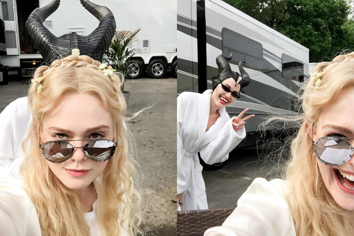 maleficent ii 2 Angelina Jolie Elle Fanning Behind the scenes disney movie sequel