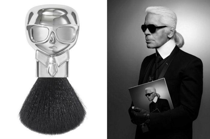 老佛爺頭像的刷具太值得蒐藏!Karl Lagerfeld 與知名品牌聯手推出限量彩妝系列