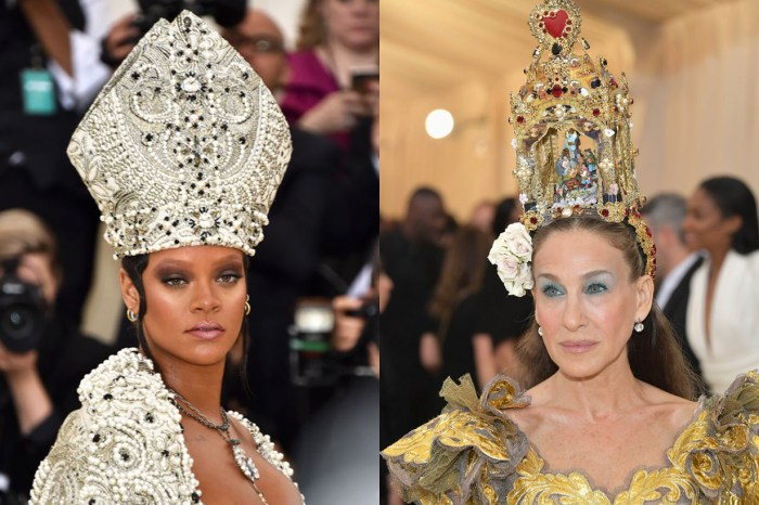 Met Gala 2018 :  Rihanna 教宗「上身」、Sarah Jessica Parker 頭頂也有戲!眾女星齊齊以頭飾搶鏡
