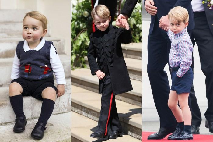 原來喬治小王子在哈里王子婚禮上也大膽地破例!