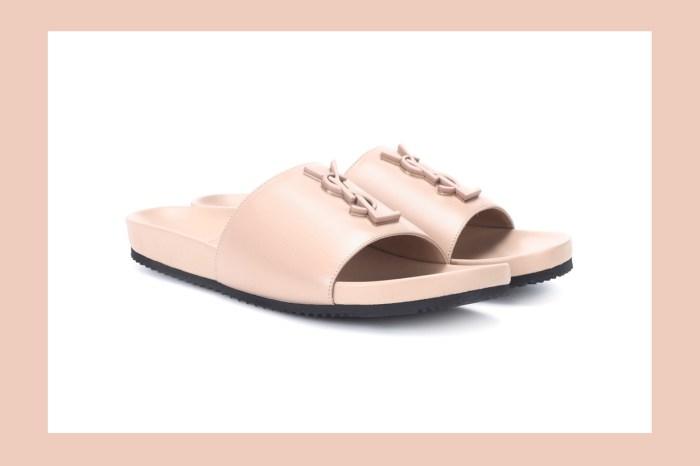 專為女生所設計的淺粉色,近 600 美金的 Saint Laurent 運動拖鞋你會買單嗎?