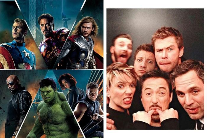初代 Avengers 成員一同紋上這個獨特圖案,紀念這 10 年的美好時光…