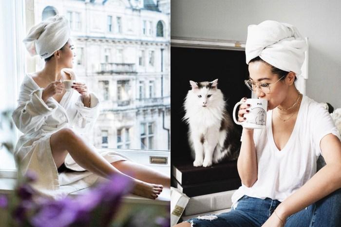 洗完頭就包著浴巾趕快拍一張,那就可以跟上 Instagram 的最新拍照潮流了!