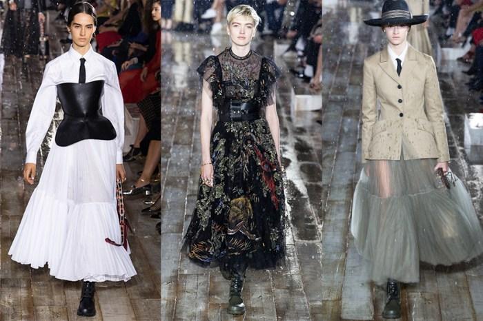 Dior 滂沱大雨中發佈 2019 早春系列,展現剛柔並重的時尚美學