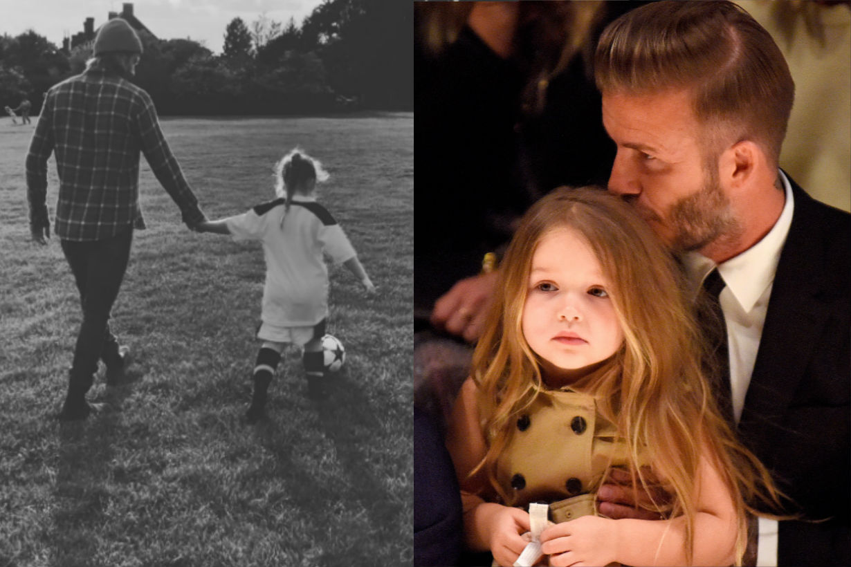 'IT'S DOWN TO HARPER' David Beckham reveals he's heartbroken that his three sons have given up football
