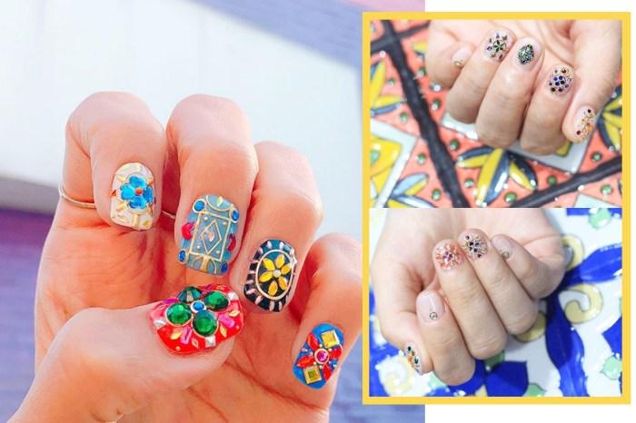 把建築藝術融入美甲中-韓國著名美甲師最新設計的「瓷磚指甲」就是下一波潮流!
