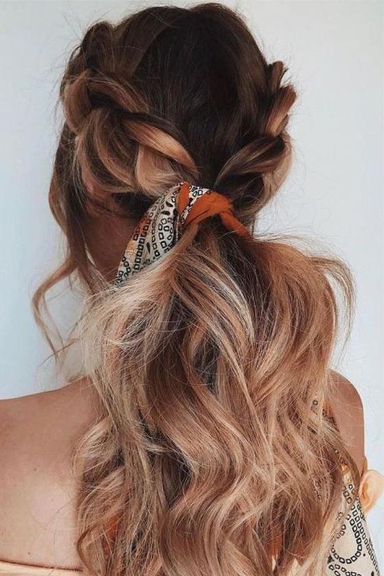 scarf summer hairstyle inspiration pinterest