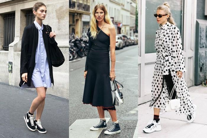 為懶人而設的必勝穿搭方程式:「連身裙 + 波鞋」時尚街拍造型示範