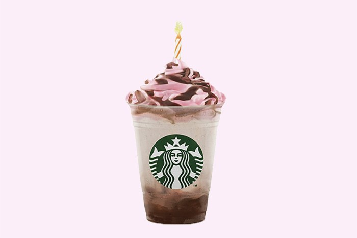 Starbucks 推出「生日版」星冰樂,生日就以它作蛋糕吧!